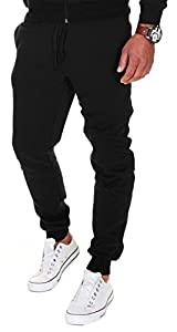 pantalones: MERISH Pantalones Jogger Hombre Deportivos Joggers Modell 211 Negro L