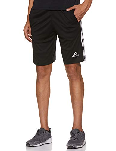 adidas Herren Design 2 Move 3-Streifen Shorts, Black/White, M -
