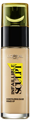 3 Light Medium Base (L'Oréal Paris Make Up Infaillible Sculpt, 03 Medium Dark - Contouring Base mit 24h Halt & optimaler Anpassung an den Hautton, 1er Pack (1 x 29 ml))