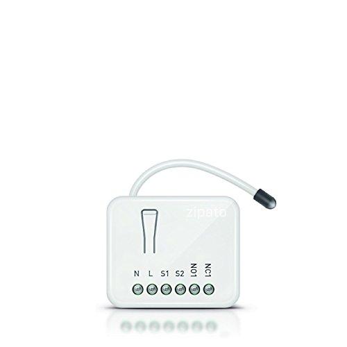 Zipato ph-pan08.EU Micromodule Contrôleur de Moteur 230 V 1,8 A Z-Wave, Blanc
