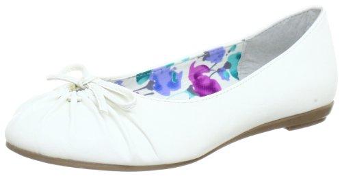 Marco Tozzi 2-2-22109-20, Ballerine donna Bianco (Weiß (WHITE 100))