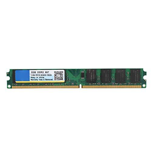 Tonysa 2G RAM für In tel/AM D, 2G RAM 2 GB 667 MHz DDR2, 240-Pin-Laptop-Speicher für DDR2 PC2-5300-Desktop-Computer, Intel, AM D-Motherboard -