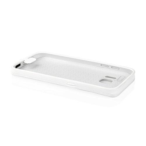 EGO Wasserdicht Schutz Hülle TPU Silikon Handy Tasche Case Flexibel Elastic Etui Waterproof Wasserfest für Samsung G930 Galaxy S7, Weiß Weiß