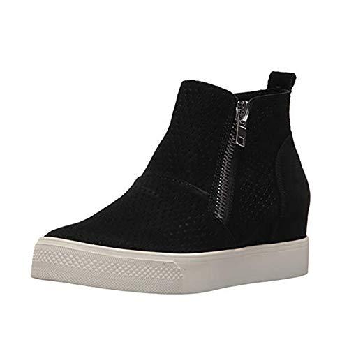 Zapatillas Deportivas de Mujer Cuña Sneakers Plataforma Casual Zapatos para Dama Ante Piel Tacon 5cm...