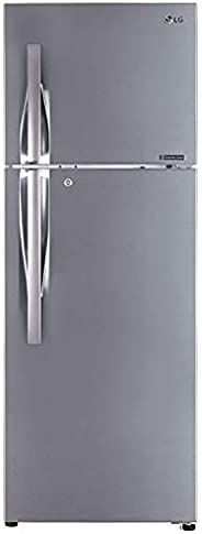 LG 335 L 3 Star Inverter Frost-Free Double Door Refrigerator (GL-T372JPZ3, Shiny Steel)