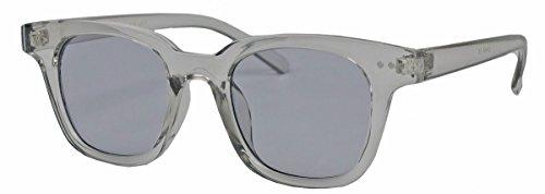 Retro Sonnenbrille in transparenten Candy Farben mit farbigen getönten Gläsern WF41 (Grau)