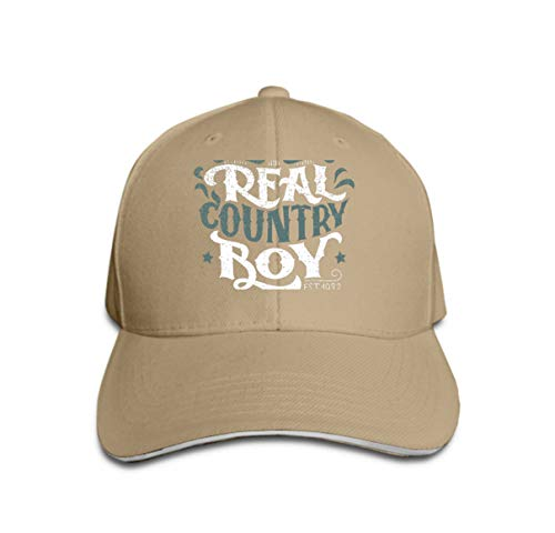 Classic 100% Cotton Hat Caps Unisex Fashion Baseball Cap Adjustable Hip Hop Hat real Country Boy Hand Lettering Design Poster Grunge (Country Boy Kostüm)