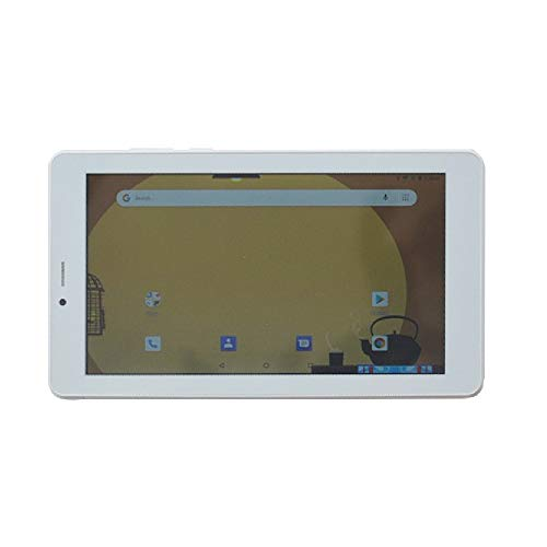ibowin® 7 Pulgadas Android Oreo 8.1OS 1G RAM 16G ROM 3G Movil Tablet PC 1024x600 IPS Resolución gsm Certificated 3G WCDMA y 2G gsm WiFi + Cellular + AGPS Dual SIM Tarjeta - Blanco