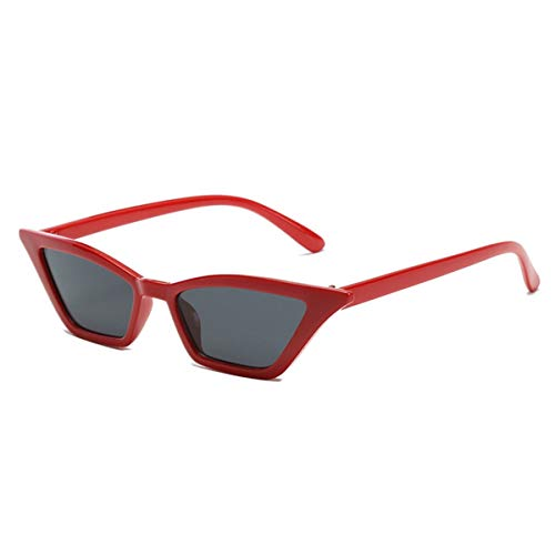 Sport-Sonnenbrillen, Vintage Sonnenbrillen, Sunglass Metal Hinges Ladies Sunglasses NEW Retro Cat's Eye Sun Glasses Fashion Small Sunglass Box Triangle Women Sunglases Red all gray