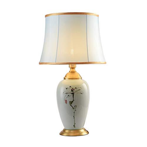 JXLBB Tischlampe Kupfer mit Keramik handgemalte Tinte malerei Plum Blume Wohnzimmer Schlafzimmer nachttischlampen Neue chinesische dekorative -