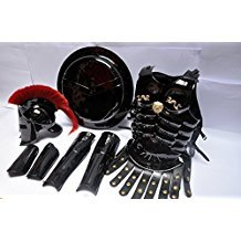 Mittelalter römischen King Leonidas Spartan Helm W/Rot 300 Movie Plume + Muscle Jacke + Shield + Bein + Arm Guards 300 Griechisch Spartan King Leonidas Gear OF WAR Armor Shield Leonidas Helm von (Gears Of War Kostüme Halloween)
