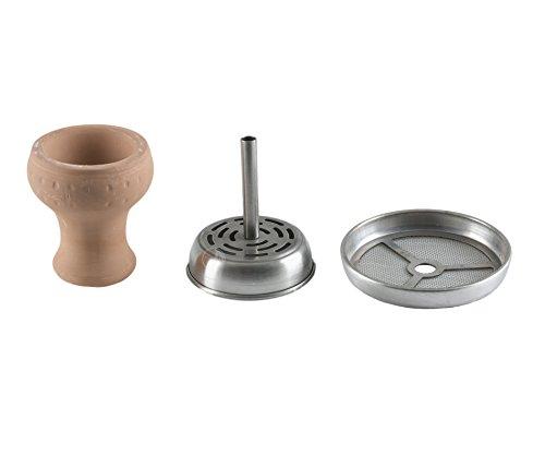 Aladin Shisha Kaminkopf-Set Mockingbird AE600, Tabaktopf mit Kamin für Wasserpfeifen