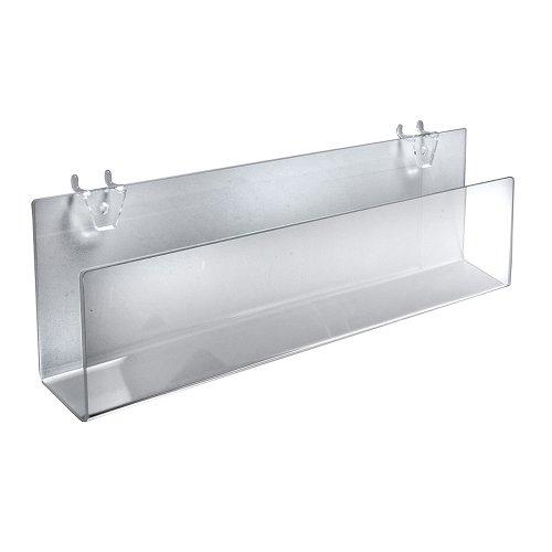 cryl klar Grußkarte Halterung für Stecktafel/Slatwall (2Pack) (Acryl Klar Pegboard)