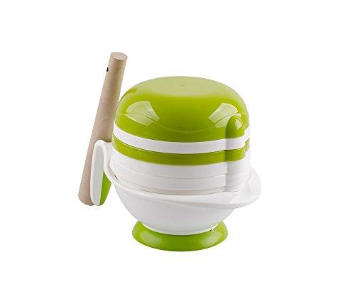 Preisvergleich Produktbild Tofern 8-in-1 BPA Freier Baby Kinder Entsafter Obstsaft Filter Babynahrung (Obst Gemüse) Mühle Schleifer mit Mikrowellengeeignetem Schüssel - Weiße Schüssel