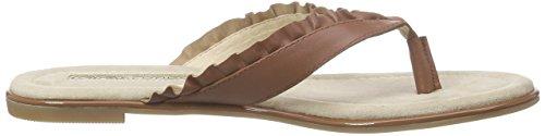 Buffalo 15bu0222 Kid Leather, Tongs femme Marron - Braun (TAN 01)