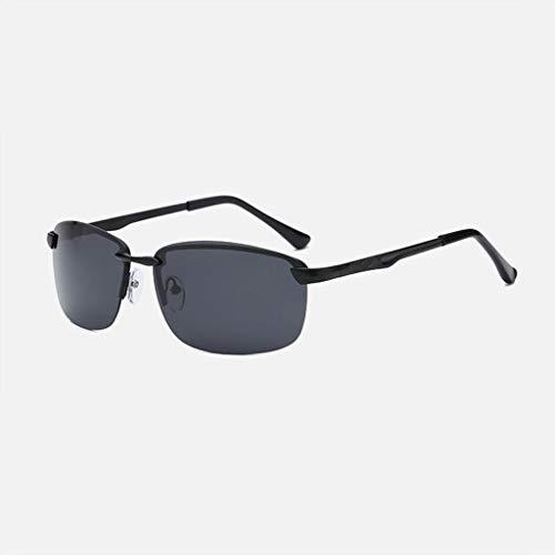 Polarisierte Sonnenauge Männer Neue Metall Fahren Outdoor-Tourismus Anti-UV-Augenkomfort dauerhafte Anti-Glitter-Brille (Farbe: Schwarzer Rahmen schwarz graue Linse)
