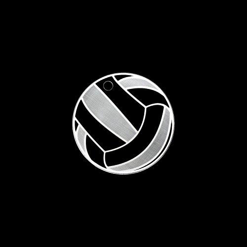 Bütic GmbH Plexiglas Ballsport-Anhänger Acrylglas Schlüsselanhänger, Form:Volleyball