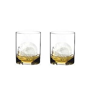 RIEDEL 0414/02 O Wine Tumbler H2O Whisky, 2-teiliges Whiskeyglas Set, Kristallglas