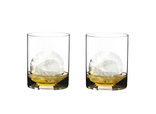 RIEDEL 0414/02 O Wine Tumbler H2O Whisky, 2-teiliges Whiskeyglas Set, Kristallglas -