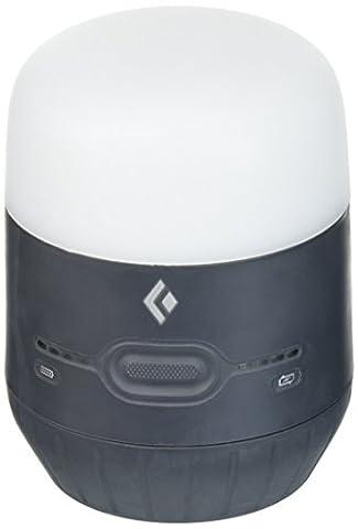 Black Diamond Moji Charging Station Graphite / Basecamplicht und Ladegerät zugleich - helle LED-Leuchte zum Camping und Powerbank für elektronische Geräte / Kleine Laterne, max. 250 Lumen