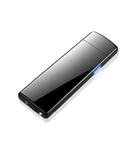 USB Feuerzeug elektronisches aufladbar, Flamme ohne Gas. Premium-Qualit&aumlt mit Geschenk-Box. Ultra-feine. SturmFeuerzeug