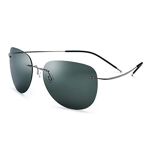 Yiph-Sunglass Sonnenbrillen Mode Fahrer, der polarisierte Sonnenbrille männliche Fischen-Sonnenbrille fährt (Farbe : Black Green)