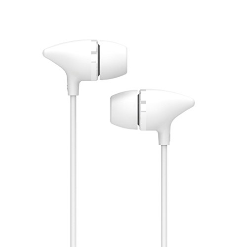 uiisii C100 Bass Headphones Devil Horn In-Ear Earphones Creative Earbuds with Mic for iPhone , Ipod, Ipad, Android Smartphone, Tablets, Mp3 Players (White)