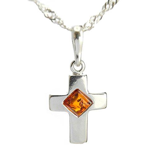 Bernsteinkreuz in echt 925 Silber#611