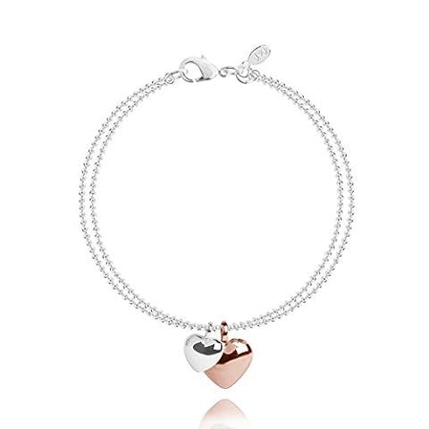 Joma Jewellery Ruby Heart Bracelet