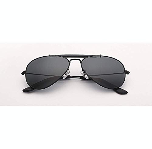 Sonnenbrille Outdoorsman Aviation Sonnenbrille Damen Herren 58 Mm Pilot Gradient Grau Glaslinse Brille Spiegel Uv400