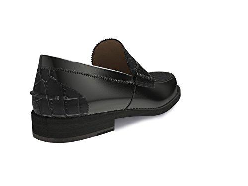 Chaussures Sur Mesure - College - Man Crocodile Imprimer Noir Brillant