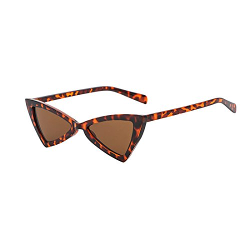 Inlefen Frauen Männer Cat Eye Sonnenbrille Mode Dreieck Metall Scharniere Brillen