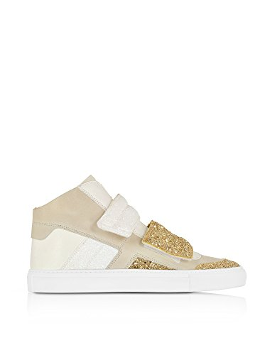 MM6 MAISON MARGIELA HI TOP SNEAKERS DONNA S40WS0048SY0407962 CAMOSCIO MULTICOLOR