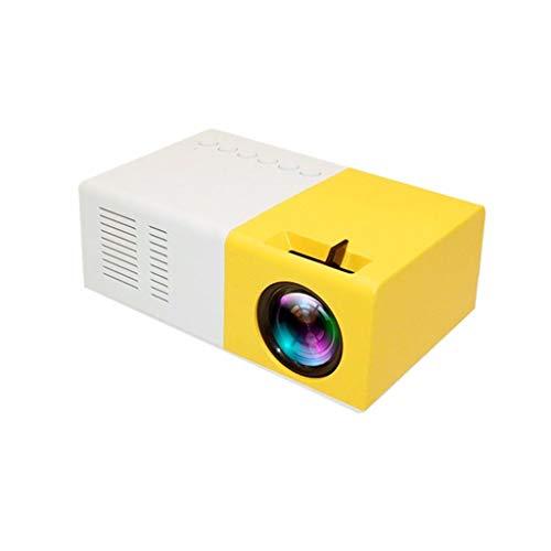 Altsommer Mini Beamer, LED Projektor 4500 Lumen Tragbarer LED Projektor, unterstützt 1080P HD, 50000 Stunden Lampenlebensdauer, kompatibel mit USB/HD/SD/AV/VGA