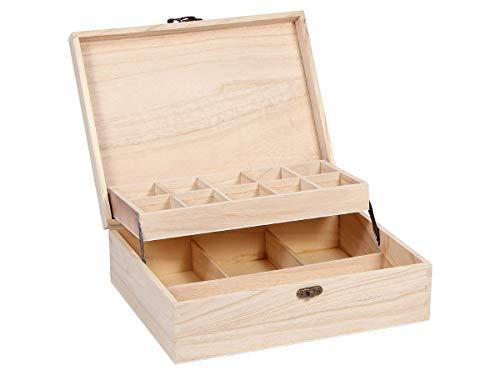 Alsino - vaschetta da collezione, in legno naturale, non trattata, per personaggi minerali e risorse da collezione