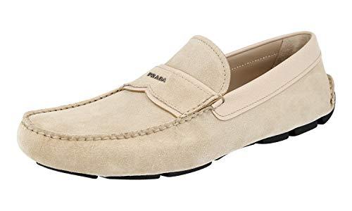 Prada Herren 2DD137 MF3 F0F24 Lederschuhe, Beige (Deserto), 44 EU - Prada Kleid Männer Schuhe