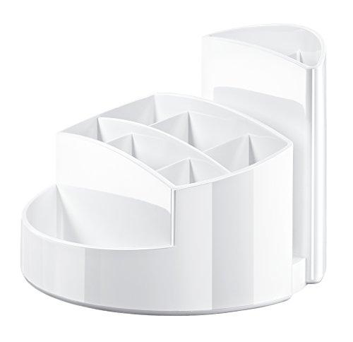 HAN 17460-12, Schreibtischköcher RONDO, Elegant, Hochglänzend, Premium Qualität mit 9 Fächern, weiß