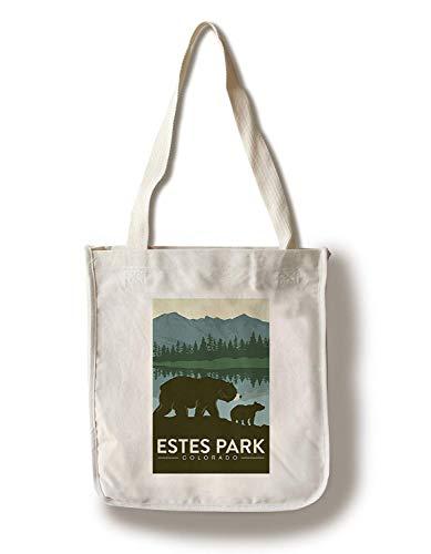 Estes Park, Colorado Grizzly Bear and Cub Canvas Tote Bag Faltbare Einkaufstasche - Estes Park, Colorado