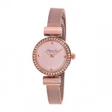 Kenneth Cole 10022304–Orologio con cinturino in acciaio per donna, colore: rosa/grigio