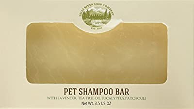 Falls River Soap Pet Shampoo and Soap Bar – 3.5 Oz Bar- Flea & Tick Shampoo Bar for Dogs & Cats to Kill & Repel Fleas and Ticks – Handmade, Organic, Vegan, Cruelty Free from Falls River Soap Company LLC