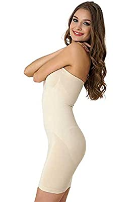 Taillenformer Bauchweg Formeasy Stark Shapewear Kleid Shaper Unterwã¤sche Formend Miederkleid Body Trã¤gerlos Damen v8w0OmNn