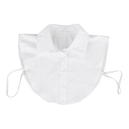 Pixnor Falso mezzo camicia camicetta PeterPan collare