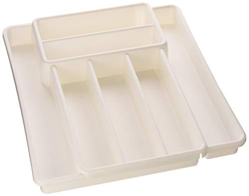 kasten mit 7 Fächern, Kunststoff (BPA-frei), weiss, (39,7 x 34,1 x 5,1 cm) ()