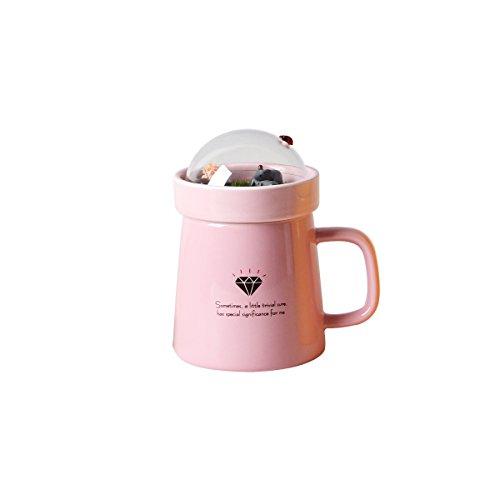 UPSTYLE creative micro-landscape macchina per caffè in ceramica latte tazza ufficio Colazione Drinkware tazza di ceramica Tazza da tè in porcellana, 400ml, Ceramica, Pink, 400 ml