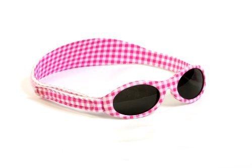 Adventure Banz Baby Sonnenbrille, Pink Gingham, 0-2Jahre