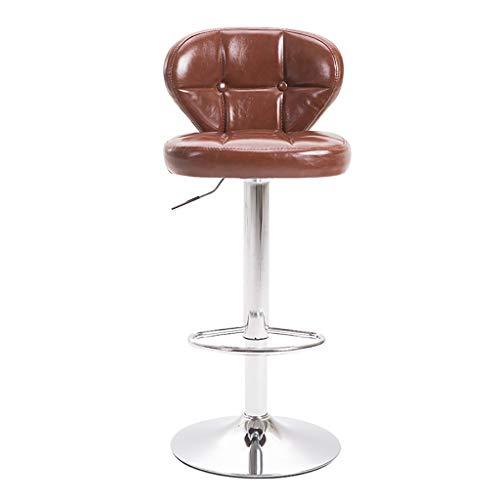 Barhocker Verstellbare Dreh, PU verbreiterte Basis, Zähler Höhe hydraulische Pub Küche Zähler Stühle, 2 Größen 11 Stile