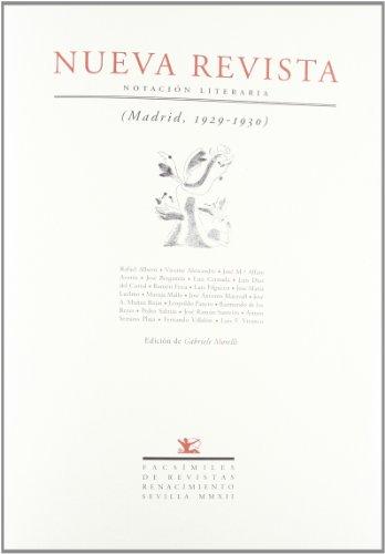 Nueva Revista: Notación literaria (Madrid, 1929-1930) (Facsímiles de Revistas)
