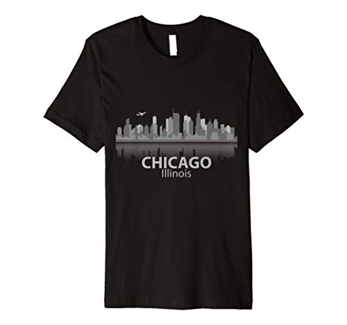 Chicago T-Shirt City Skyline Landmark Souvenir Home Love Tee