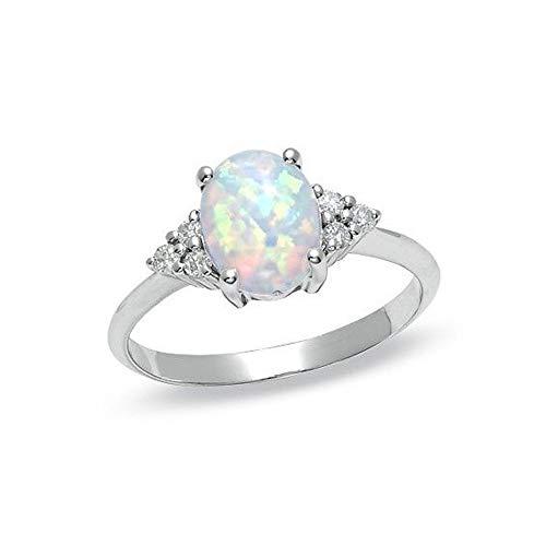 Opal Modeschmuck - Cwemimifa Ring Damen 14 aus Edelstahl
