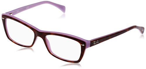 Ray-Ban Damen Brillengestell 0rx 5255 5240 53, Braun (Top Havana On Violet)